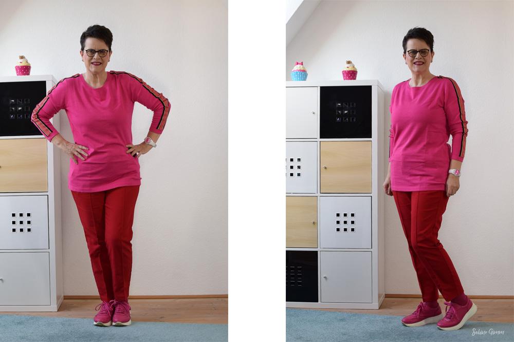 Pink und Rot kombinieren